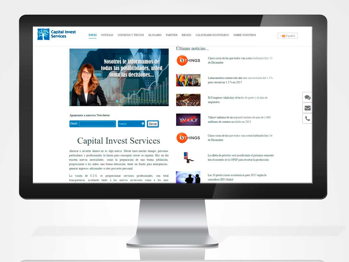 Diseño web CAPITAL INVEST
