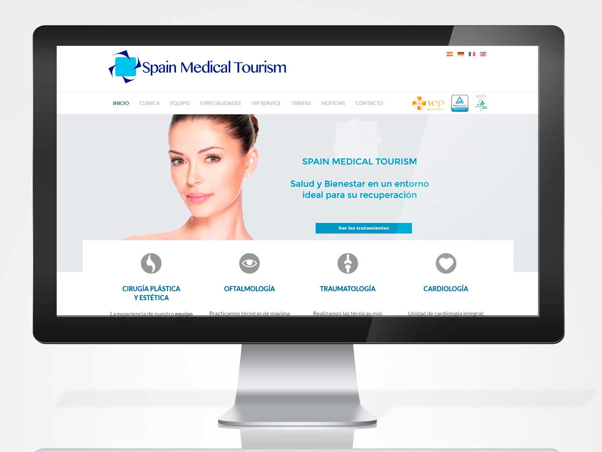 Diseño web SPAIN MEDICAL TOURISM